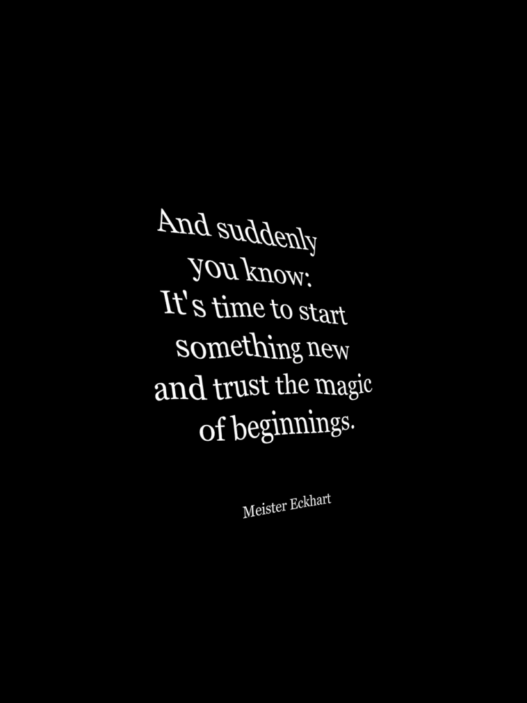 Typography Quotes : New Beginnings….Read More on ...