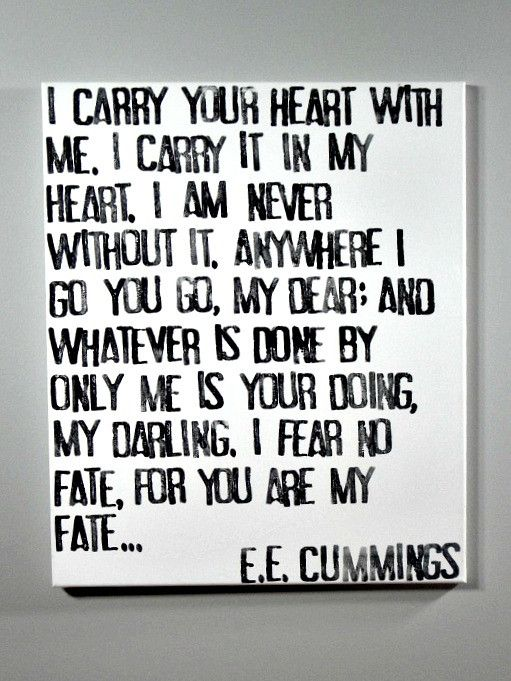 Quotes About Love Love Quote Idea Ee Cummings Poem I