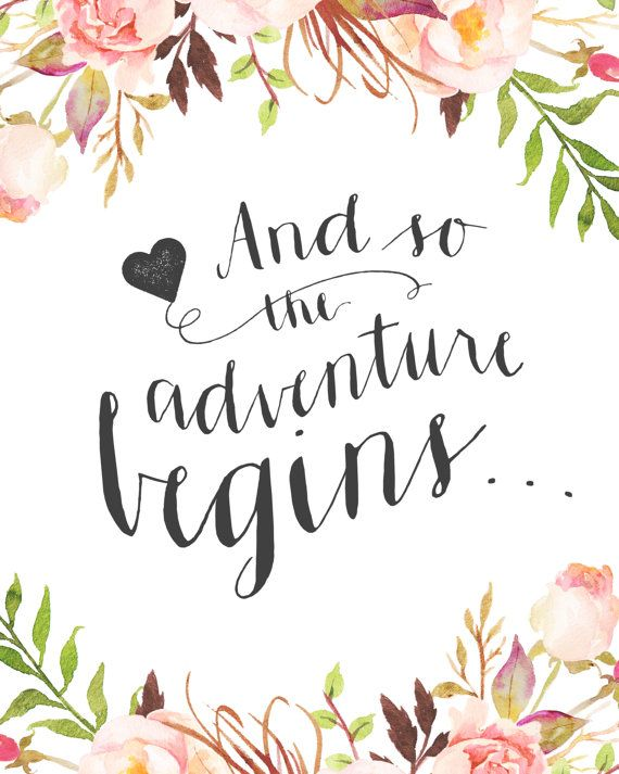 Quotes About Love : Wedding Day Quote U2013 U201cand So The Adventure Beginsu201d  {Courtesy Of Etsy}