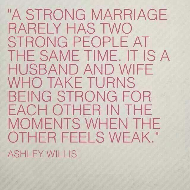 Quotes About Strength : It is a husband and wife who take ...
