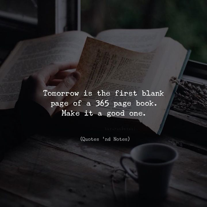 Life Quotes Book Entrancing Life Quotes  Tomorrow Is The First Blank Page Of A 365 Page Book
