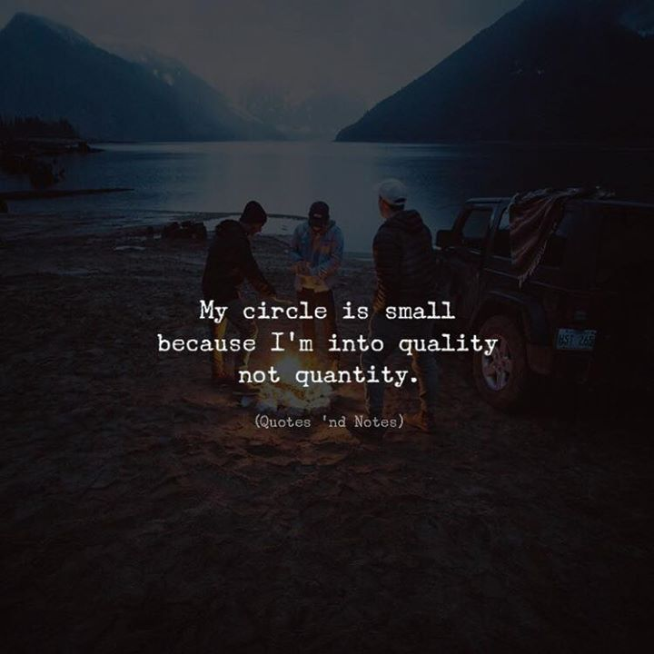 Best Small Quotes Captivating Life Quotes  My Circle Is Small Because I'm Into Quality Not
