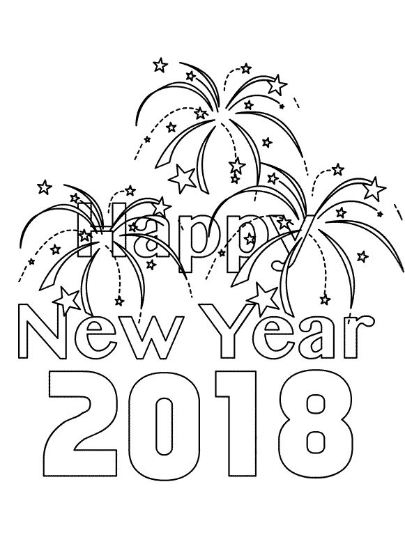2019 Happy New Year coloring page | Free Printable Coloring Pages | 794x581