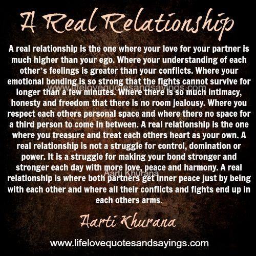 Love quote and saying : A real relationship is the one where ...