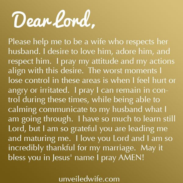 Love Quote And Saying Prayer Of The Day Respecting My Husband