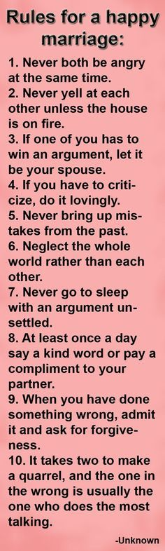 Love Quote And Saying Rules For A Happy Marriage Love