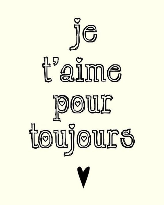 "Quote On Love Impressive Quotes About Love  ""i'll Love You Forever"" French Love Quote"