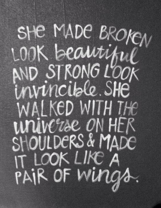 Quotes About Strength : Lovely quote about strength. She ...