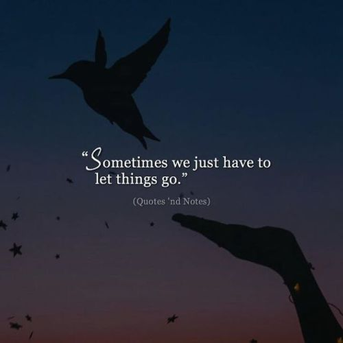 LIFE QUOTES : Sometimes we just have to let things go. —via ...