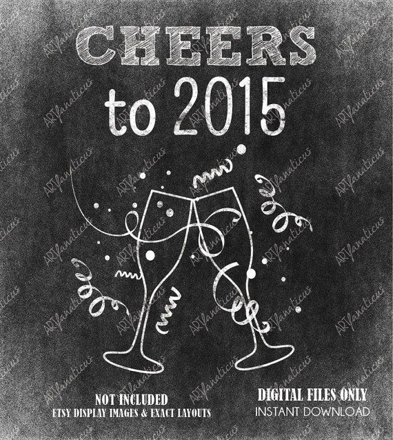 Happy New Year 2018 Quotes Happy New Years Holiday Clipart New  Years Chalk By Artfanaticus