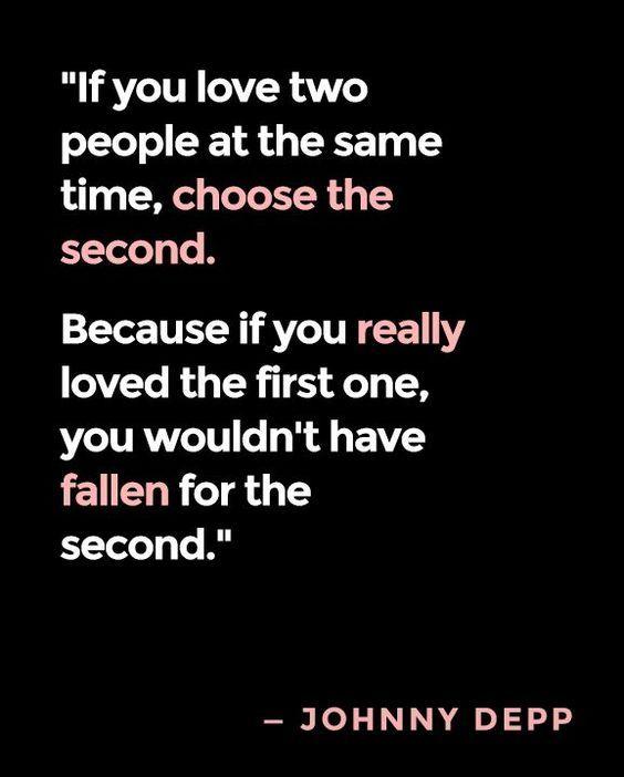 LIFE QUOTES : If you love two people at the same time ...