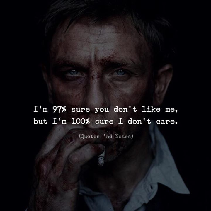 Life Quotes Im 97 Sure You Dont Like Me But Im 100 Sure I