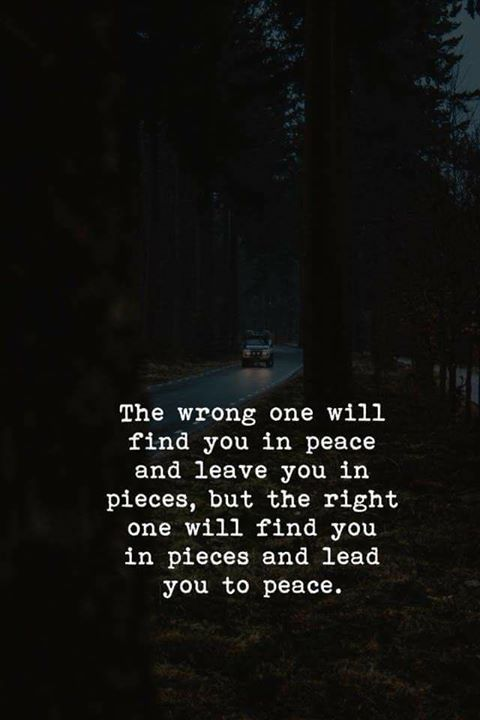 Life Quotes The Wrong One And The Right One Via Httpsifttt