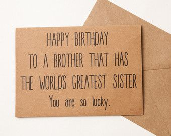 Birthday Quotes : Brother Card / Brother Birthday Card ...