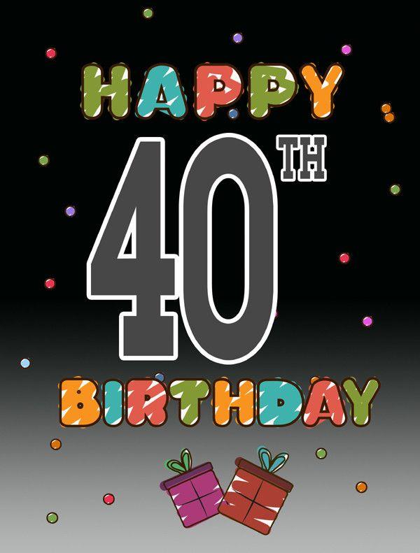 Birthday Quotes : Happy 40th Birthday 2-Sided Garden Flag ...
