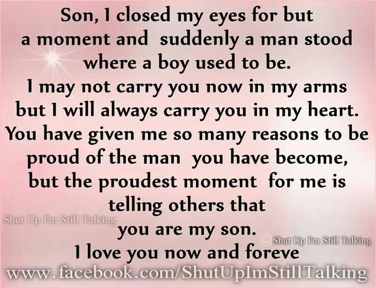 Birthday Quotes : Son...Wishing you a HAPPY BIRTHDAY and I ...