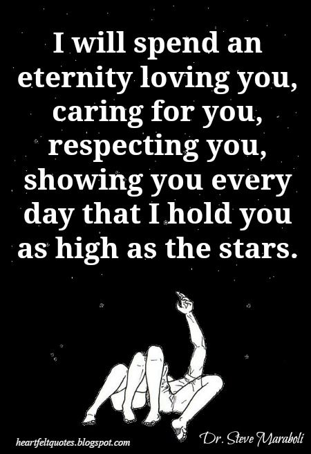 Love Quote And Saying I Will Spend An Eternity Loving You Caring
