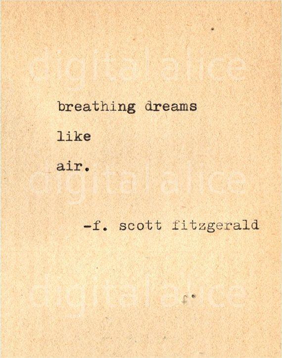 Trust Quotes : VINTAGE TYPEWRITER PRINT f Scott Fitzgerald