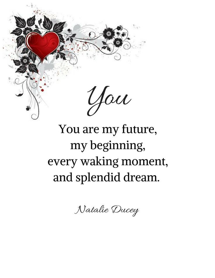Love Quote And Saying You Are My Future My Beginning Every