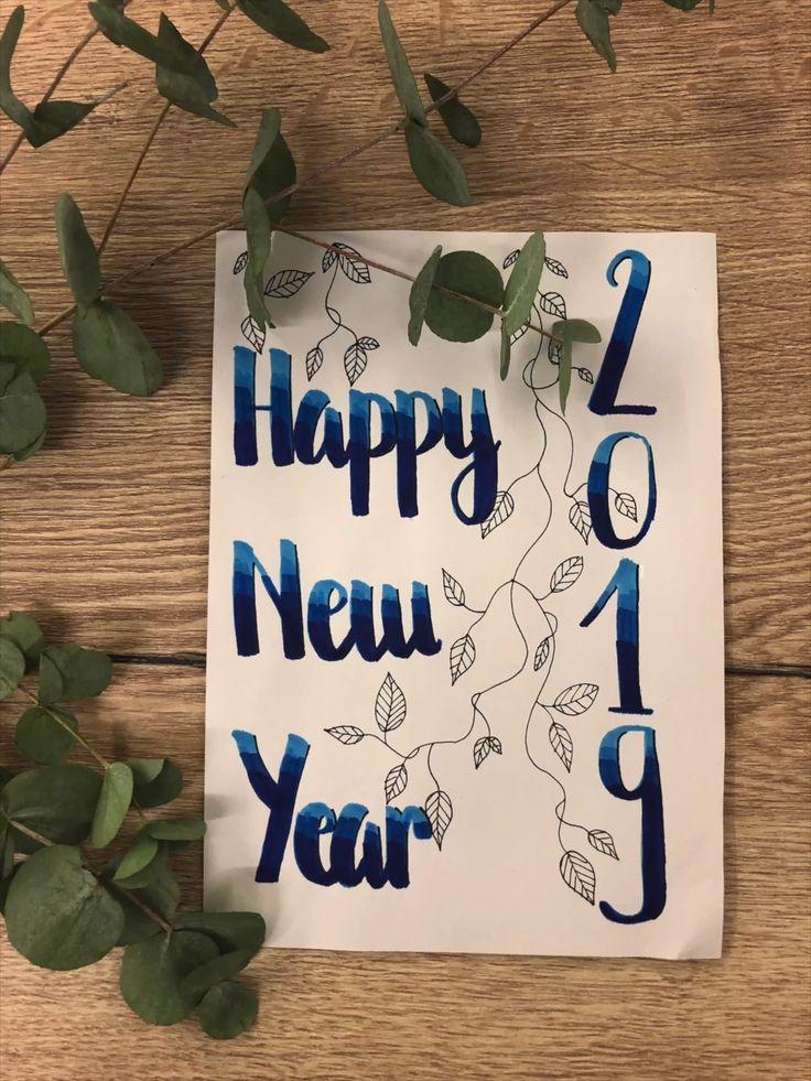Happy New Year 2019 Carte De Voeux 2019 Nouvel An Top