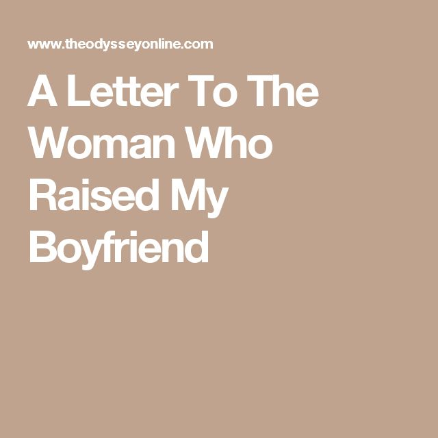 Love quote and saying : A Letter To The Woman Who Raised My ...