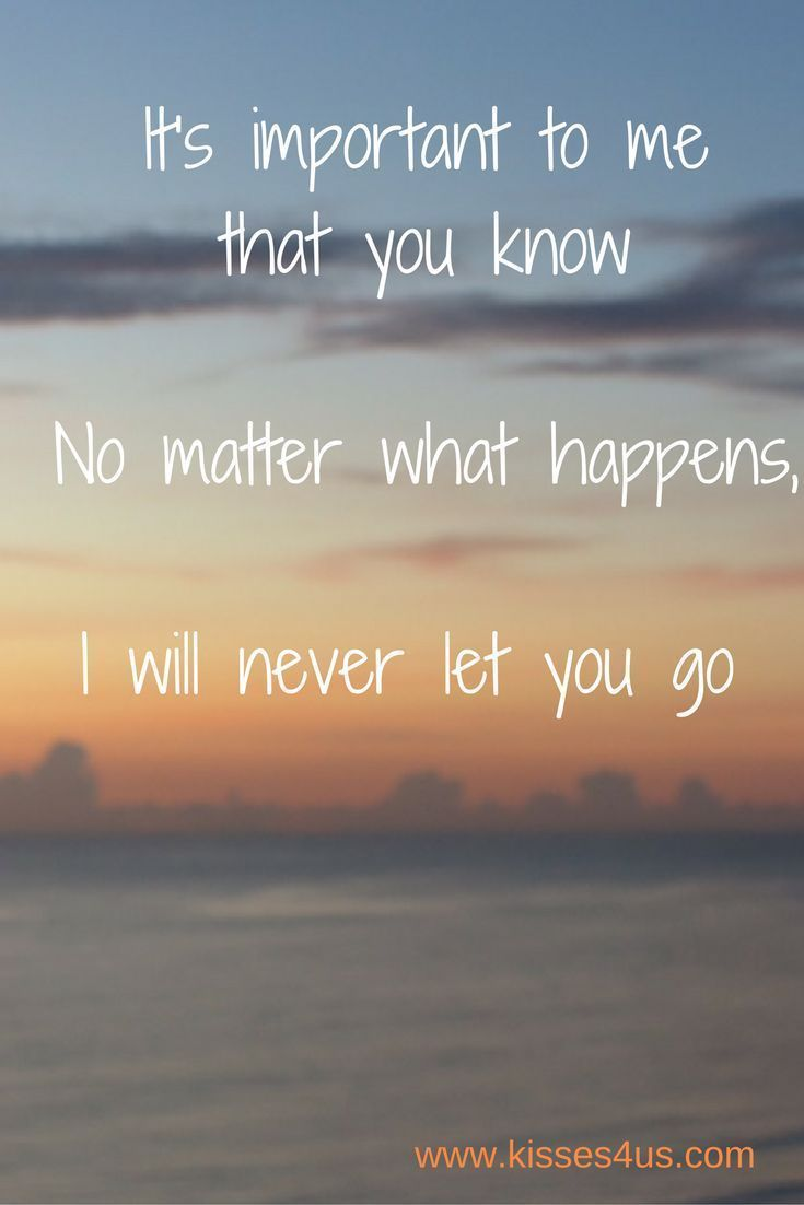 Love Quote And Saying Through The Good And Bad Times Never Let Go