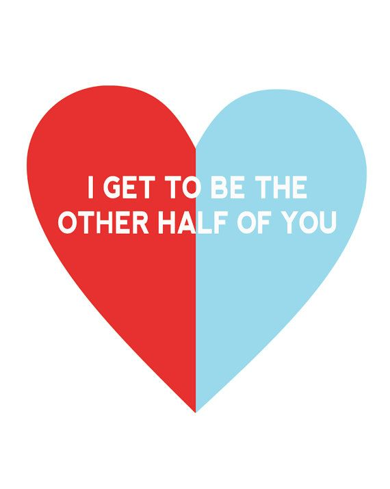 Love quote and saying : Other Half of You print or card ...