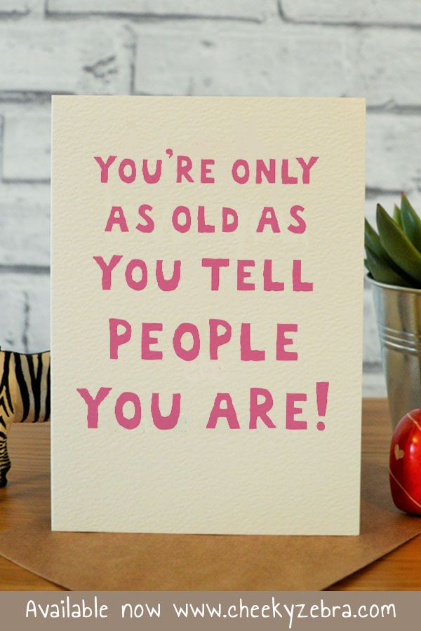 Birthday Quotes : Funny 40th Birthday Card for her 30th 50th ...